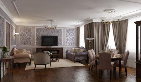 Идеи дизайна для гостиной: традиционный стиль