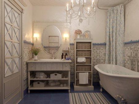 дизайн ванної кімнати в стилі Прованс
