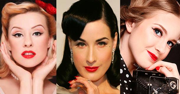Прически и макияж 50 х годов