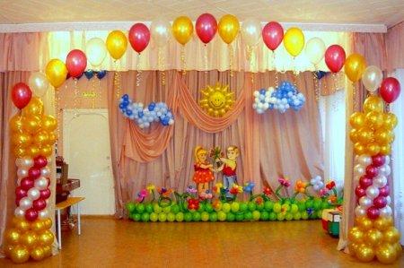 Прикраса залу кульками