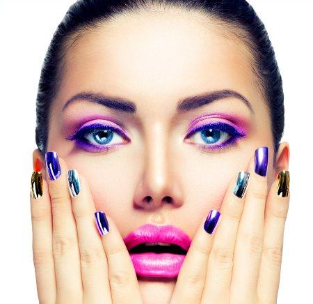 Як зробити макіяж очей фіолетовими тінями