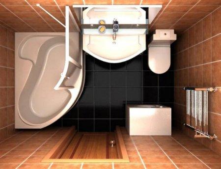 Дизайнеры рассказали об оформлении интерьера ванной комнаты 5м.кв.