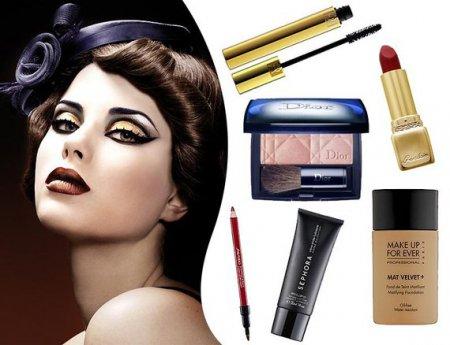 Як зробити макіяж 50-х років. Опис кроків