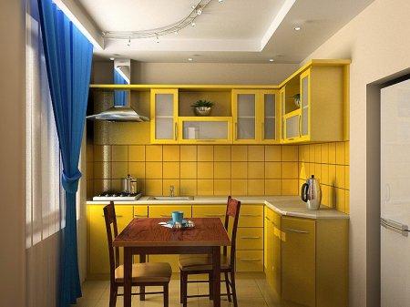 Лучшие варианты интерьеров кухни маленькой площади