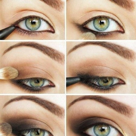 Как сделать эффектный макияж коричневыми тенями для зеленых глаз
