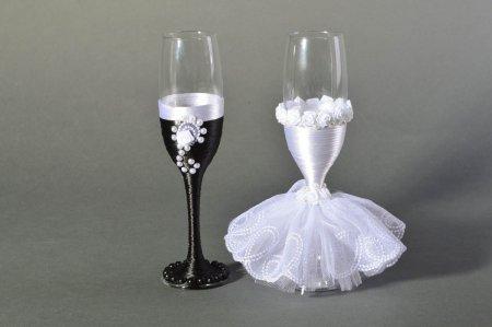 Бокалы для свадьбы своими руками мастер класс фото 585