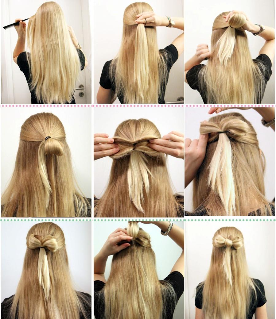 Причёски простые в школу фото