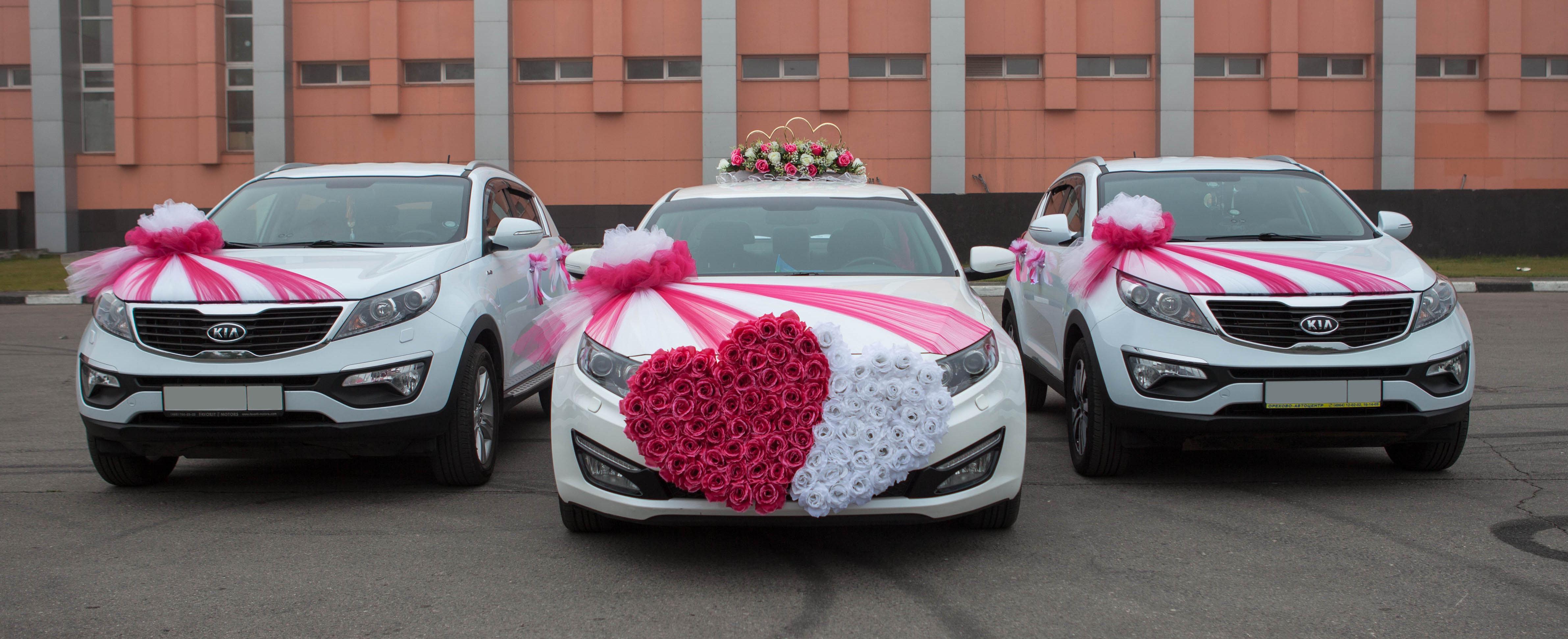 Свадебное украшение машин фото картинки