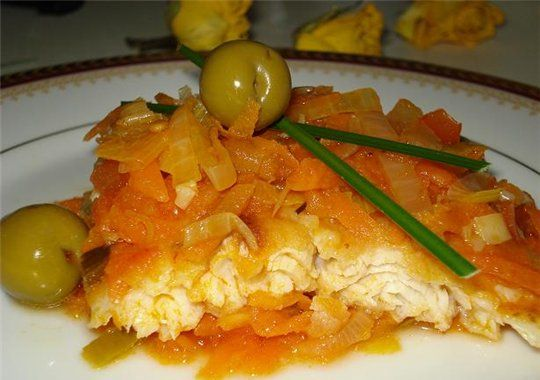 Рыба под овощами рецепты