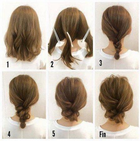 ТОП-10 причесок за 5 минут на средние волосы